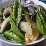 南国野菜「四角豆」の炒め