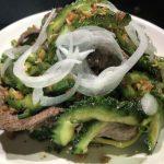 KHO QUA XAO BO(コー ワ サオ ボー)<br><span>ゴーヤと牛肉の炒め</span>